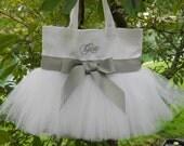 Flower girl tote bag, too too cute, dance bags, ballet bag, Personalized Ballet Bag, Embroidered MINI Tutu Dance Bag MTB48 Est