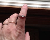 Antique internally flawless gia numbered stone i f D perfect stone diamond ring