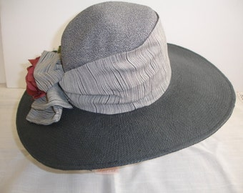 Vintage Hat Straw Tatianna Ltd Malibu California With Tags  Wide Brim Hat