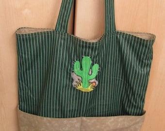 Western Cactus Eco Friendly Tote Bag Purse