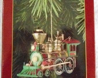 Vintage Carlton Heirloom Wonderland Express Train 1st Christmas Ornament  1996