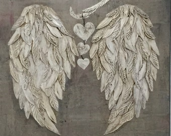 Angel Wings Wall Decor with Hearts