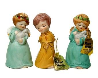 Trio of Merri Bells by Jasco Vintage Angel Bells Christmas Angels