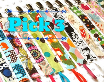 Pacifier Clip Set - Soothie Pacifier Clips - Girl Pacifier Clips - Boy Pacifier Clip - Mam Pacifier