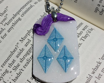 My Little Pony Inspired Rarity Pendant Necklace
