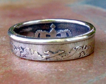 Coin Ring - 1962 Danish 25 Ore Coin Ring - Size: 6 1/2