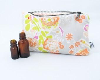 Essential Oil Case - Sweet as Honey - cosmetic bag zipper pouch essential oil bag