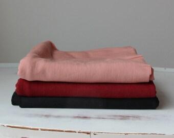 fine merino wool fabric in lightweight stretch jersey knit - 1 yard