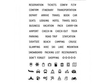 Studio l2e TRAVEL PLANS stamp set