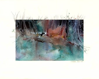 Watercolor - Original watercolour - Dream