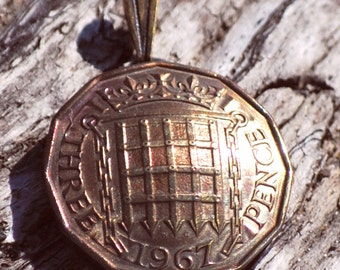 1953 - 1970 Made In England Birth Year Coin Jewelry 50th 60th Anniversary Birthday Gift For Her For Him AskIfYearAvailable