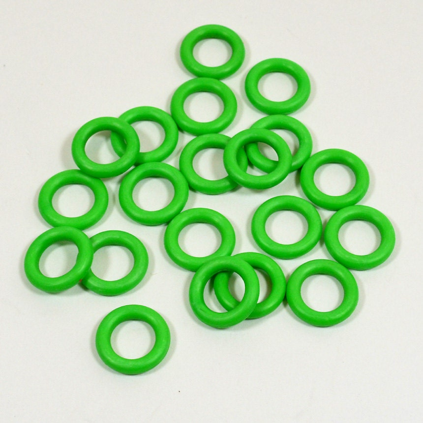 10mm Bright Green Rubber O-Rings