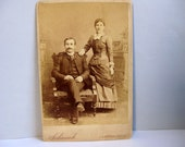 Antique Victorian cabinet card Victorian photograph