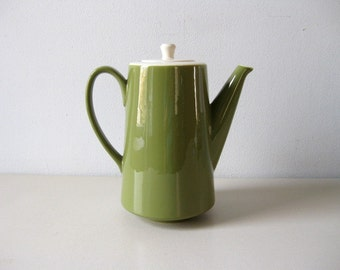 Vintage Mod 1960s coffeepot Avocado green coffee pot