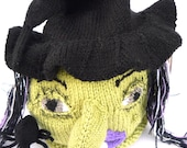 hand knitted Halloween Witch Tea Cosy