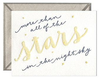 Stars in the Sky letterpress card
