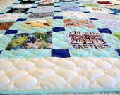 """Reserved for hshuang - Onesie Quilt, Memory Quilt - Baby Size 42"""" x 49"""" (30 Clothing Items) - DEPOSIT LISTING (50%) - Remnant Quilt"""
