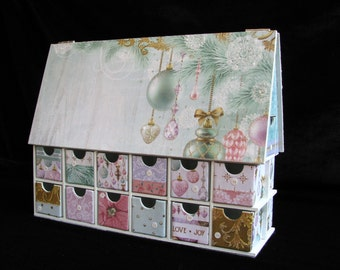 Christmas Countdown Calendar, Christmas House, Advent Calendar, Christmas Advent Calendar, House Advent Calendar, Wood Advent Calendar, Xmas