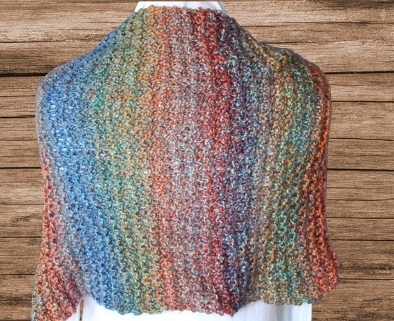 Easy Knitting Pattern for Shawl, Knit Shawl Pattern ...