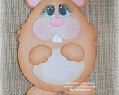 Hamster Premade Scrapbooking Embellishment Paper Piecing