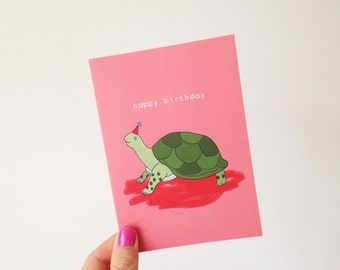 Turtle Happy Birthday Card