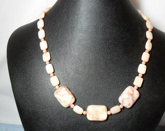 Spotstone, Pink Opal and Angelskin Necklace (06/26/2016)