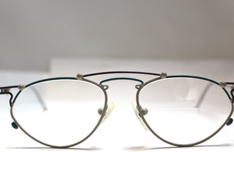 RARE STUNNING  Designer Optical Op Art  Vintage Eyeglasses