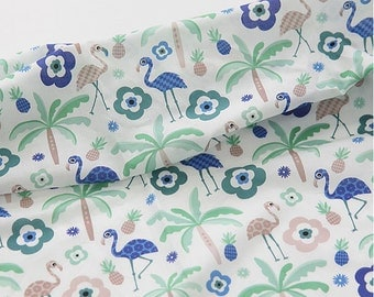 Lovely Flamingo on cotton Assa, U322