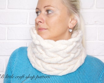 Cabled cowl knitting pattern. Easy and quick! Instant PDF download!