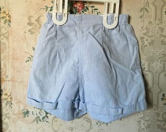 Vintage girls blue striped shorts 4t