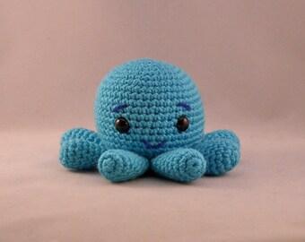 Octopus Amigurumi Handmade Crocheted Turquoise Octopus Toy Octopus Stuffed Animal Octopus Plushy