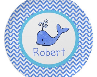 Whale Personalized Melamine Plate - Bowl - Placemat