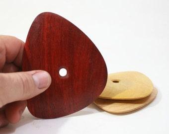 Large Soft Cornered Triangular Pottery Rib, Padauk Bowl Rib