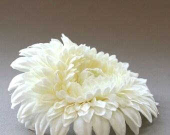 Lovely Layers Cream Gerbera Daisy - Artificial Flower, Silk Flower