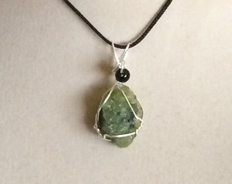 Wire Wrapped Peridot Pendant