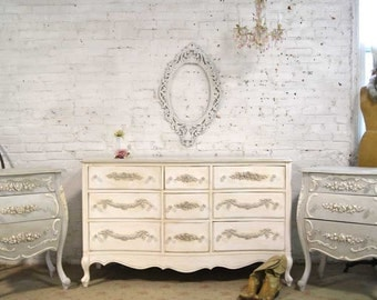 Painted Cottage Chic Shabby French Dresser DR878