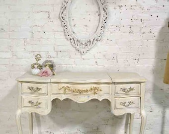 Painted Cottage Chic Shabby Romantic Vanity VAN726
