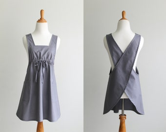 Pinafore Apron Sewing Pattern PDF - The BACK WRAP- Instant Download Sewing Pattern #124 - Sizes Small, Med, Large, XLarge (0-18)