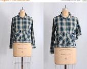 45% OFF SALE.... vintage india shirt • 1970s indian blouse • 70s plaid shirt • vintage jacket
