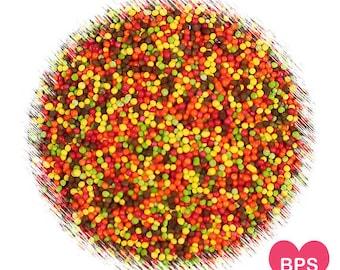 Fall Harvest Nonpareil Sprinkles, Fall Sprinkles, Thanksgiving Sprinkles, Cupcake Sprinkles, 100's and 1,000's, Edible Sprinkles