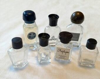 Lot of 7 Vintage Miniature Perfume Bottles