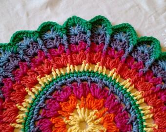 Rainbow Doily