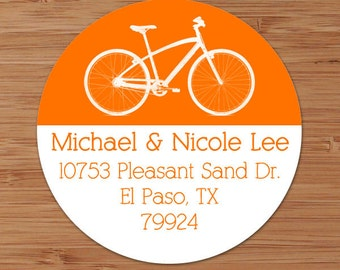 Retro Bicycle - Custom Address Labels or Stickers