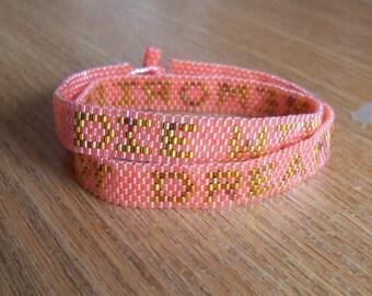 Die With Memories, Not Dreams. ~ Bracelet Pattern - Peyote Pattern