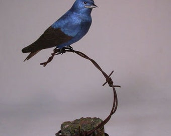 purple martin Wooden Hand carved Bird Carving