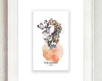 The Hermit Tarot Print