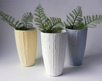Trio of Vases / Instant collection /  set of 3 vases / white vase / cream vase / gray vase