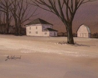 Barn, Able Nozeman's Farm Original Painting