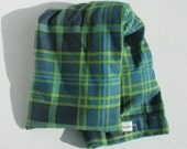 Hot/Cold Rice Bag - Green and Blue Plaid Flannel