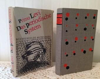Primo Levi. Das periodische System (The Periodic Table). Buchergilde Gutenberg. HCDJ. German. Autobiography. Scientist, Chemist.